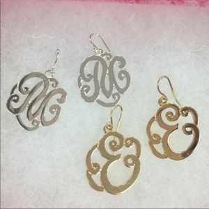 Initial Monogram Style Dangle Earring, NWY